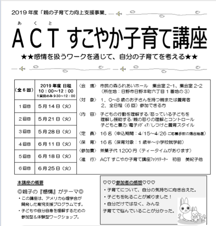 ACT2019前半チラシ