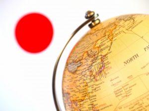 日本と地球儀